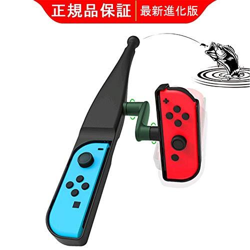 「2020先行版」 釣り竿 Joy-con用釣りスピリッツ対応 Spucoke 任天堂スイッチ 体感コントロールゲーム 釣りロッド 釣竿 ョイスティック ゲームパッドツール Nintendo Switch対応
