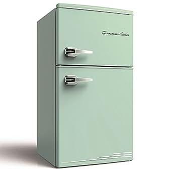 Grand-Line 冷蔵庫 90L 2ドア 直冷式 冷凍冷蔵庫 ライトグリーン ARD-90LG