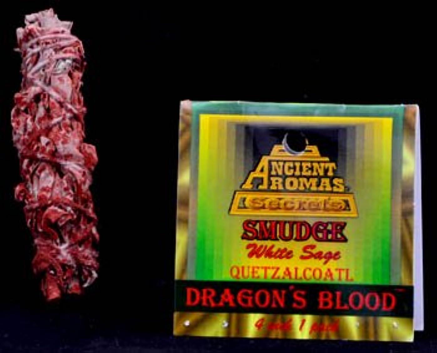 硬い距離真実ドラゴンブラッド&ホワイトセージSmudge Stick 3 – 4