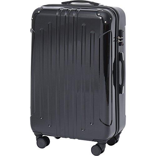 アイリスプラザ スーツケース キャリーバッグ L 軽量 8輪キャスター TSAロック 拡張機能 KD-SCK ブラック