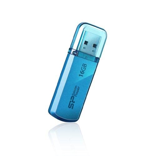 シリコンパワー USBメモリ 16GB USB2.0 キャップ式 アルミボディ 永久保証 Helios 101 ブルー SP016GBUF2101V1B