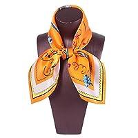 Madalena スクエアスカーフレディースプリントピンクソフト快適なスカーフシルクショール (Color : 2)