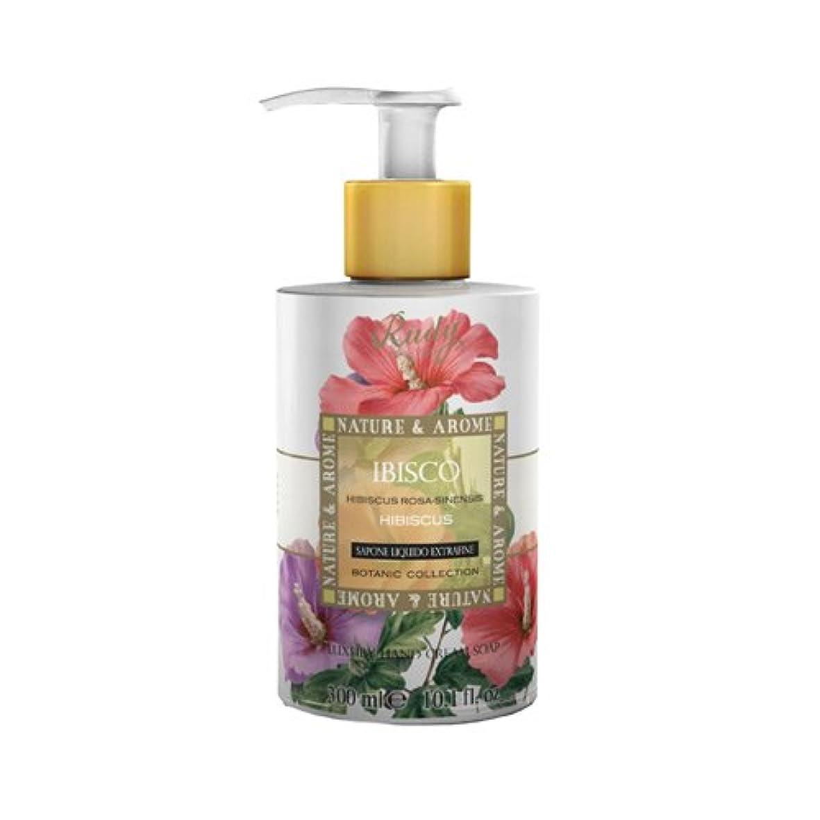 蒸留れるウガンダRUDY Nature&Arome SERIES ルディ ナチュール&アロマ Liquid Soap リキッドソープ ハイビスカス