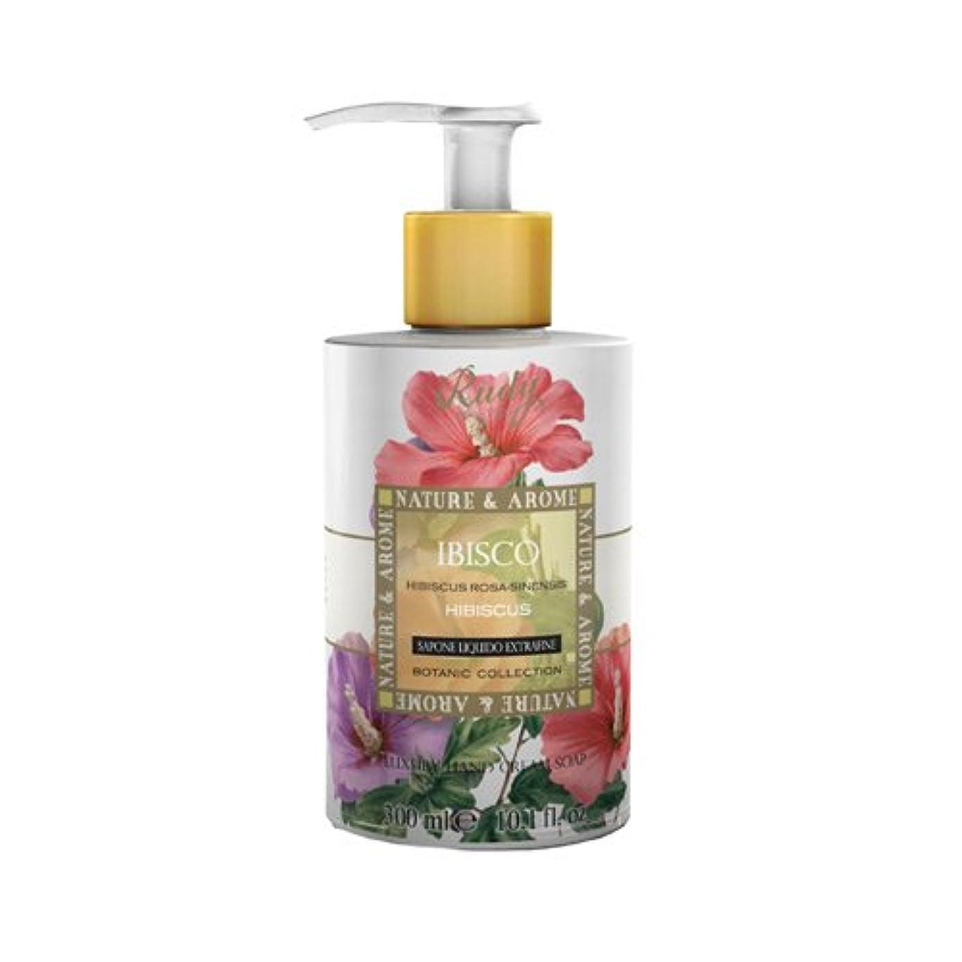 バウンドスラム街カップRUDY Nature&Arome SERIES ルディ ナチュール&アロマ Liquid Soap リキッドソープ ハイビスカス