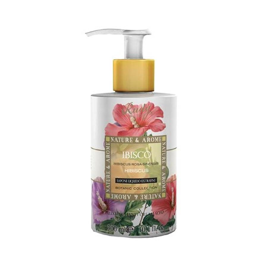 フォロー振り子八百屋RUDY Nature&Arome SERIES ルディ ナチュール&アロマ Liquid Soap リキッドソープ ハイビスカス