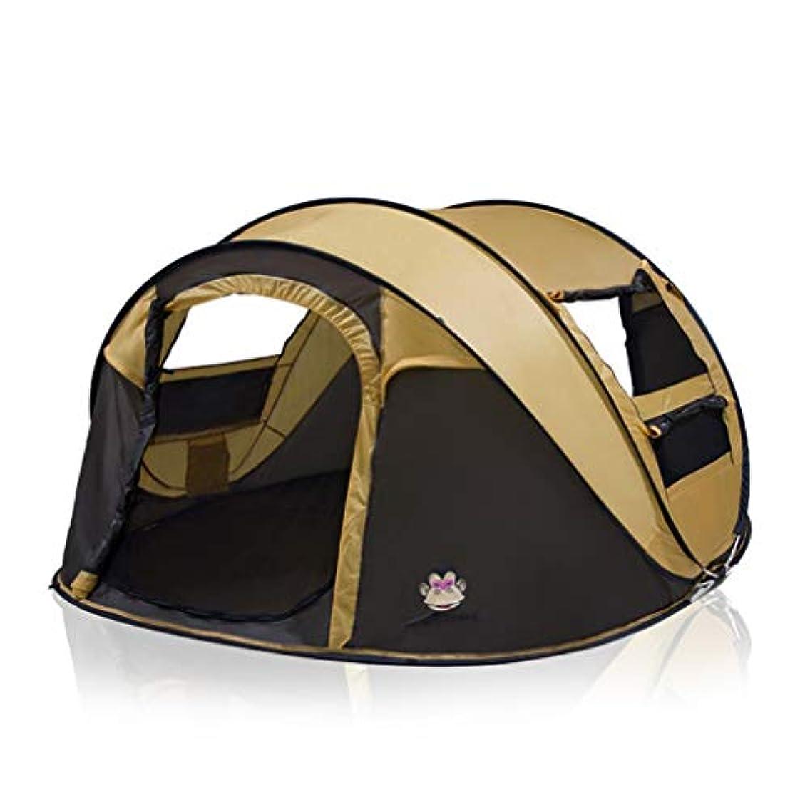 首よろしく判定LIAN キャンプテント3-4人家族のテント4シーズン自動避難所ハイキングピクニックバックパッキング旅行 (Color : Camel)