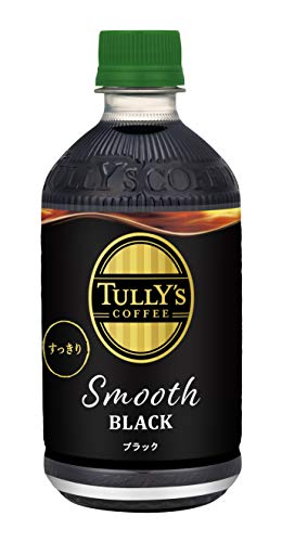 TULLY'S COFFEE Smooth BLACK 500ml ×24本