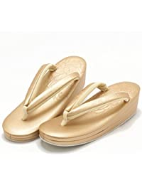 (キステ)Kisste New帆布 礼装用草履 薔薇型押し ゴールド Lサイズ(24.0cm~24.5cm) 7-1-04001