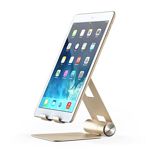 Satechi サテチ R1 アルミニウム マルチアングル 折り畳み タブレットスタンド (MacBook 2015, 2016, Nintendo Switch, iPhone 7, Samsung S8など用)(ゴールド)