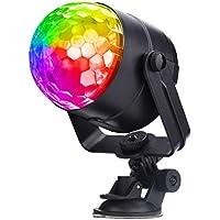 Miuko ミラーボール ミニレーザーステージ照明 カラオケライト ステージライト カラーボール LEDライト DJライト スポットライト 3W RGB 回転ライト USB充電