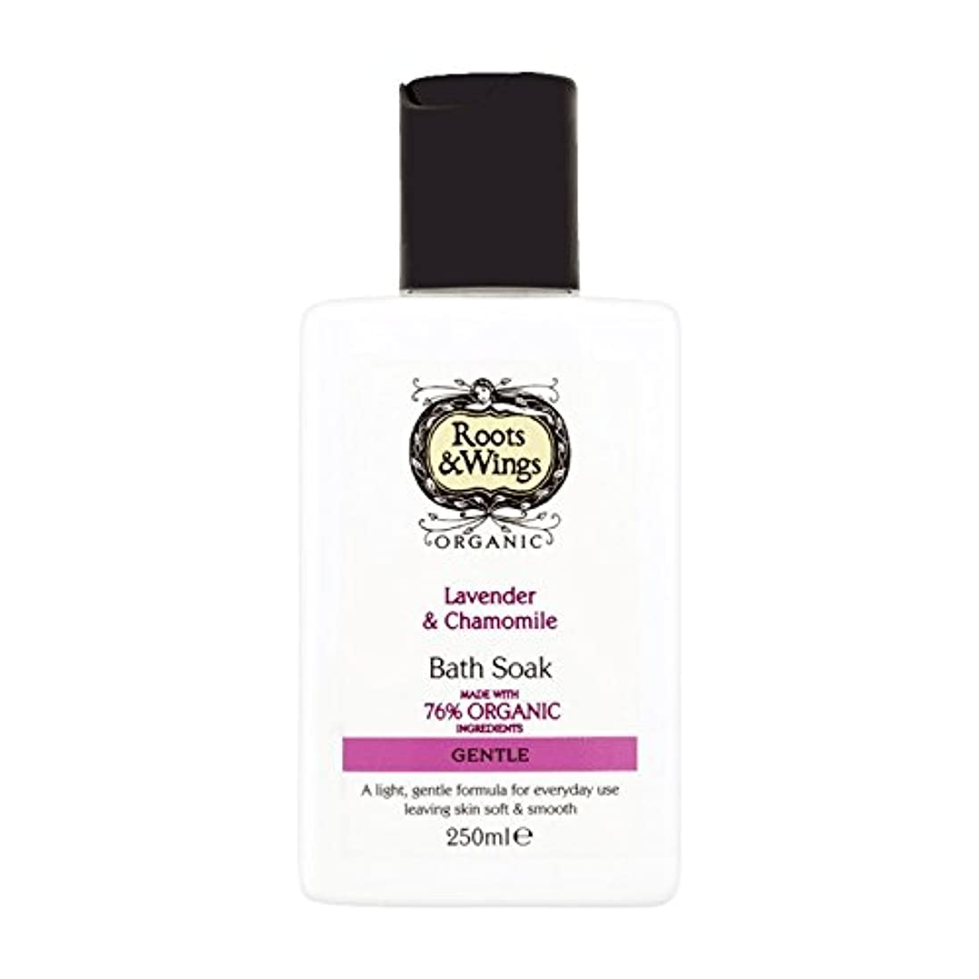 人生を作る配る汗Roots & Wings Bath Soak Lavender & Chamomile 250ml (Pack of 2) - ルーツ&翼はバスラベンダー&カモミール250ミリリットルを浸します (x2) [並行輸入品]