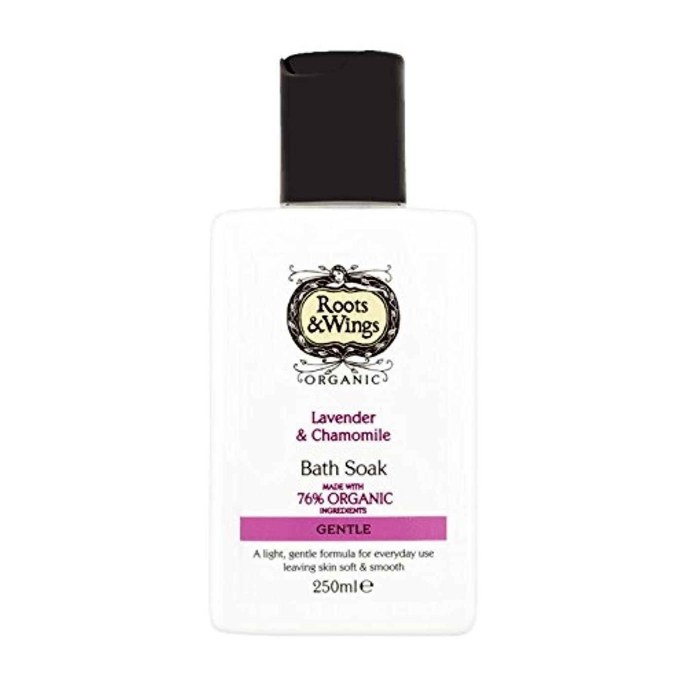 満足転用砂漠Roots & Wings Bath Soak Lavender & Chamomile 250ml (Pack of 6) - ルーツ&翼はバスラベンダー&カモミール250ミリリットルを浸します (x6) [並行輸入品]