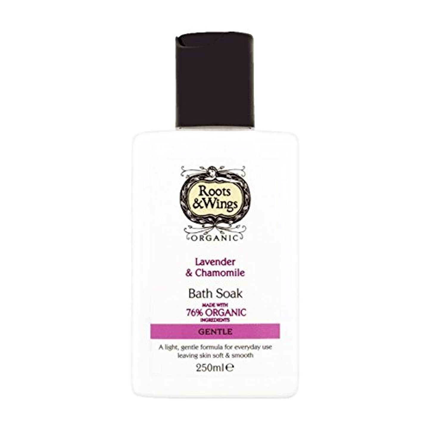 寛大さ織る脊椎Roots & Wings Bath Soak Lavender & Chamomile 250ml (Pack of 2) - ルーツ&翼はバスラベンダー&カモミール250ミリリットルを浸します (x2) [並行輸入品]