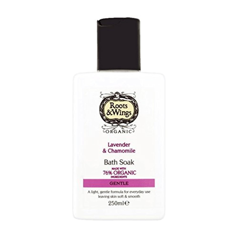 Roots & Wings Bath Soak Lavender & Chamomile 250ml (Pack of 6) - ルーツ&翼はバスラベンダー&カモミール250ミリリットルを浸します (x6) [並行輸入品]