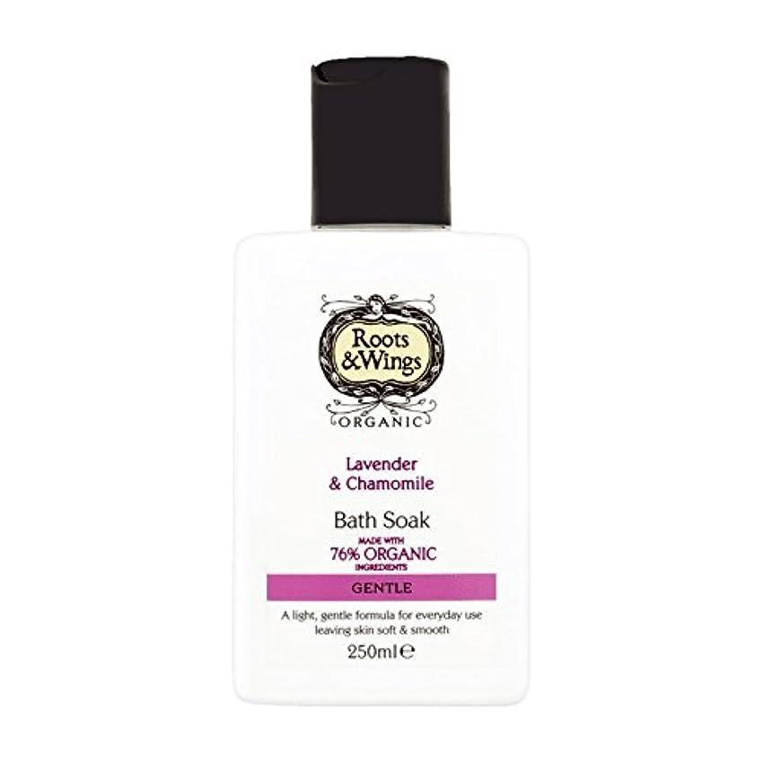 無臭私全国Roots & Wings Bath Soak Lavender & Chamomile 250ml (Pack of 6) - ルーツ&翼はバスラベンダー&カモミール250ミリリットルを浸します (x6) [並行輸入品]