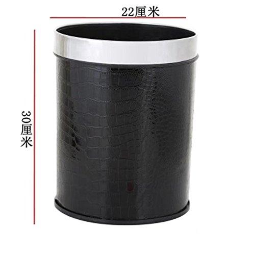 ゴミ箱 12L フタなし 部屋用 家用 ブラック