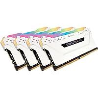 CORSAIR DDR4-3600MHz デスクトップPC用 メモリモジュール VENGEANCE RGB PRO シリーズ 32GB [8GB×4枚] CMW32GX4M4C3600C18W