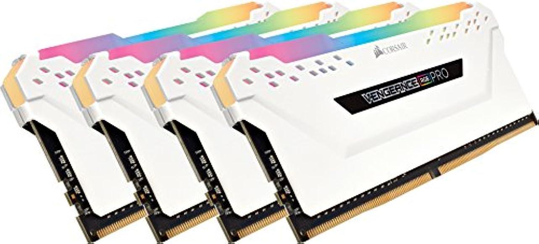 ごみ確かに本CORSAIR DDR4-3600MHz デスクトップPC用 メモリモジュール VENGEANCE RGB PRO シリーズ 32GB [8GB×4枚] CMW32GX4M4C3600C18W