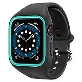Caseology Apple Watch ケース 44mm TPE バンド一体型 さらさら 耐久性 Series 6 / SE / 5 / 4 ナノ・ポップ (プルーン・チャコール)