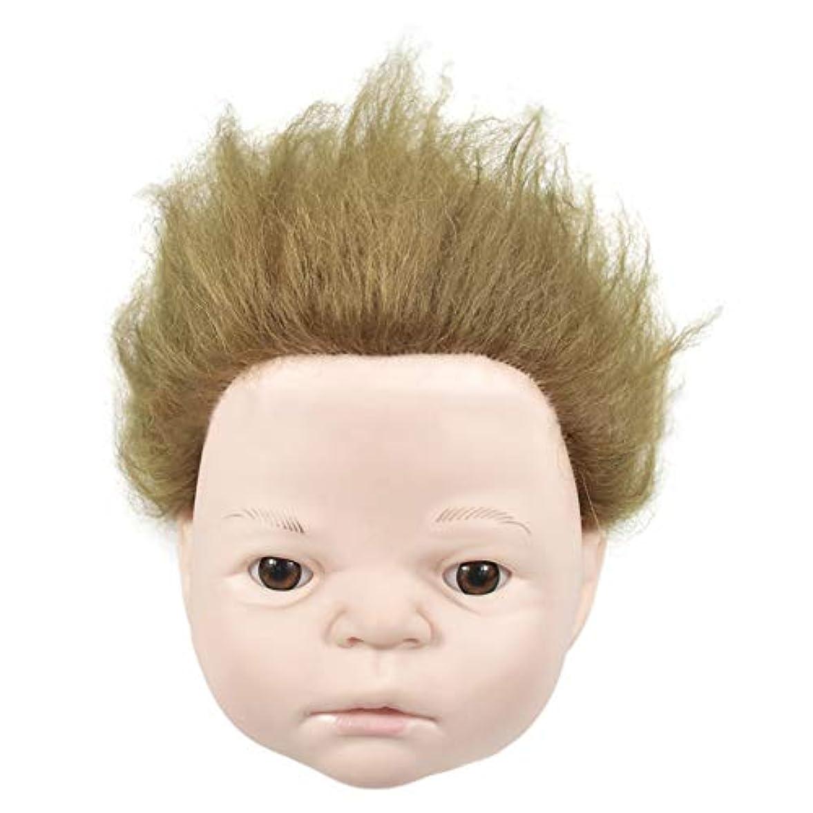巨大な危険にさらされている応答練習理髪散髪ヘッドモデルリアルヘアドールヘッド形状教育ヘッドサロン教育学習マネキンヘッド