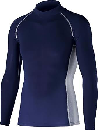 おたふく手袋 ボディータフネス 冷感・消臭 パワーストレッチ 長袖ハイネックシャツ JW-625 ネイビー 3L