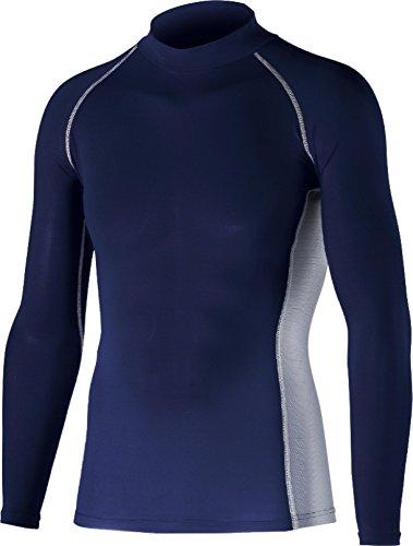 おたふく手袋 ボディータフネス 冷感・消臭 パワーストレッチ 長袖ハイネックシャツ JW-625 ネイビー M