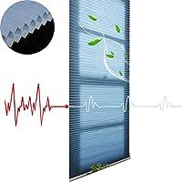 プリーツス カーテン YJFENG 50%の停電 ロールスクリーン、通気性 フェードしないでください 無臭 グレア保護 寝室 オフィス、カスタマイズ可能 (Color : Blue, Size : 140x160cm)