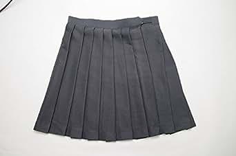【COS+】 STARRYAGE プリーツスカート ( グレー M ) 制服 豊富な色柄バリエ! 品質に自信あり!プリーツがしっかりキレイ!通学に!コスプレに☆ 女子高生 なんちゃって制服 チェックスカート プリーツ チェック スカート セーラー服 コスプレ コス jk
