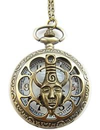 古代ブロンズDean WinchestersスーパーナチュラルディーンアミュレットInspiredポケット時計ネックレス