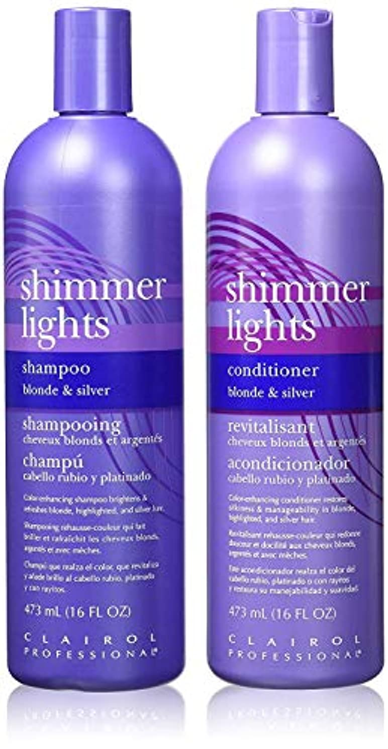 気がついて意識健全Clairol Shimmer Lights 475 ml Shampoo + 475 ml Conditioner (Combo Deal) (並行輸入品)