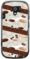 らくらくスマートフォン3 F-06F らくらくスマホ3 ハード カバー ケース コーヒーとコーヒー豆 docomo スマホケース ドコモ スマホカバー デザインケース