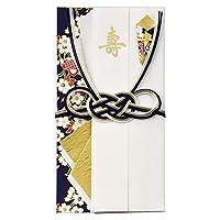 (まとめ買い)マルアイ 婚礼用金封 彩り 濃紺 キ4B 【まとめ買い5個セット】