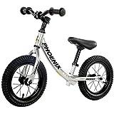 ペダルなし自転車 子供用 幼児用 バランスバイクトレーニングハンドル - 12.5インチホイール、2、3、4、5、6歳の専門のプッシュ自転車 (色 : シルバー しるば゜)