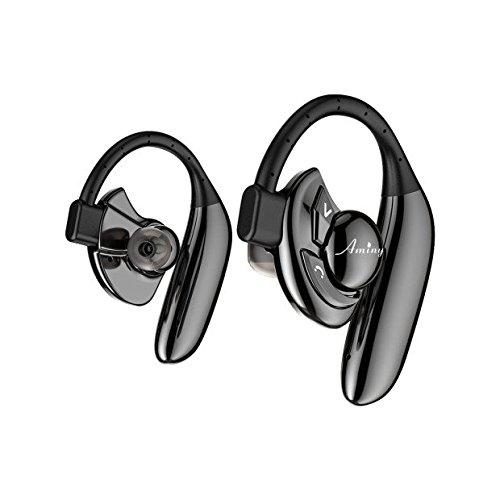 ブルートゥースイヤホン BENNY 完全 ワイヤレス イヤホン Bluetooth イヤホン bluetooth イヤホン 高音質 片耳 両耳 とも対応 大容量バッテリー イヤーフック型 Bluetooth4.2採用 [1年保証付] 外れにくい 無線 防汗 防滴 IPX6iPhone Android 対応 bluetooth ヘッドセット Bluetooth ヘッドホン 黒