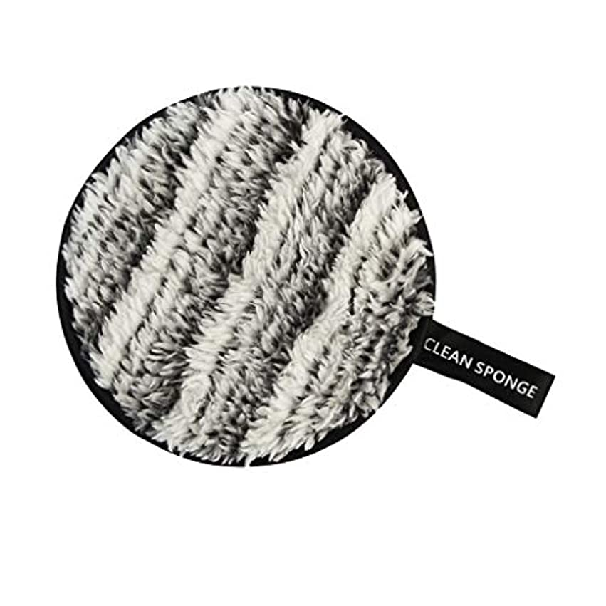 インタフェース知恵自殺再利用可能 洗顔パフ メイクアップ スポンジ 全6色 - 黒+白