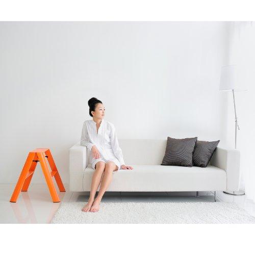 Incredible Details About Lucano Step Stool Slim Design 2Step Orange Folding Lightweight Aluminum Ladder Cjindustries Chair Design For Home Cjindustriesco