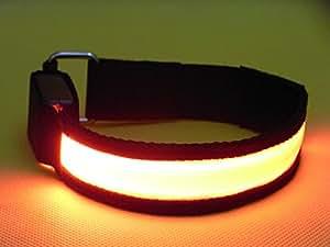 (かっこいいメンズに人気の通販ブランド「iWin.」) 安全 安心 の ランニング 用 高輝度 LED アーム バンド(オレンジ)
