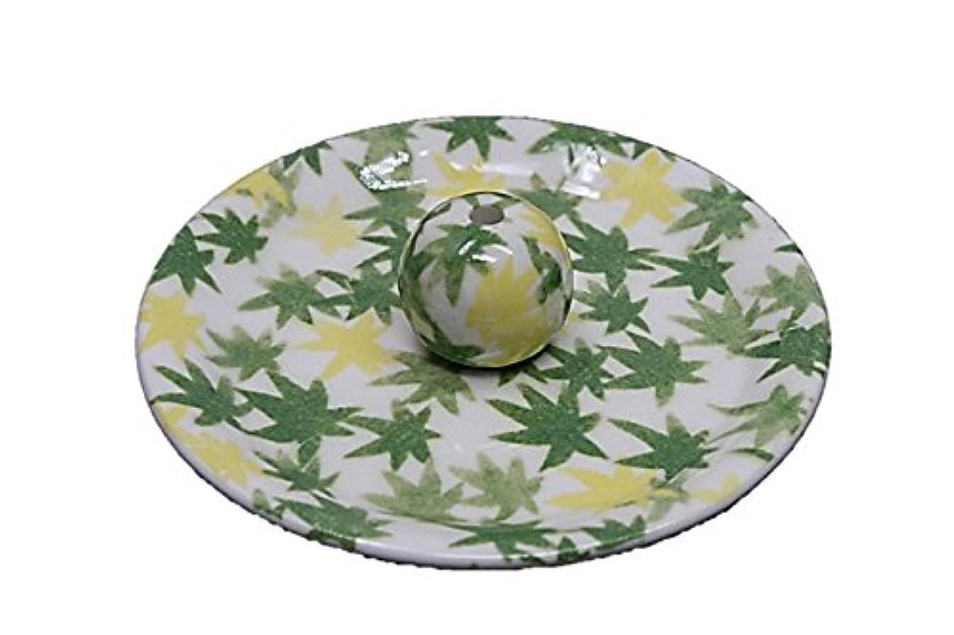9-17 和路 緑 9cm香皿 お香立て お香たて 陶器 日本製 製造?直売品