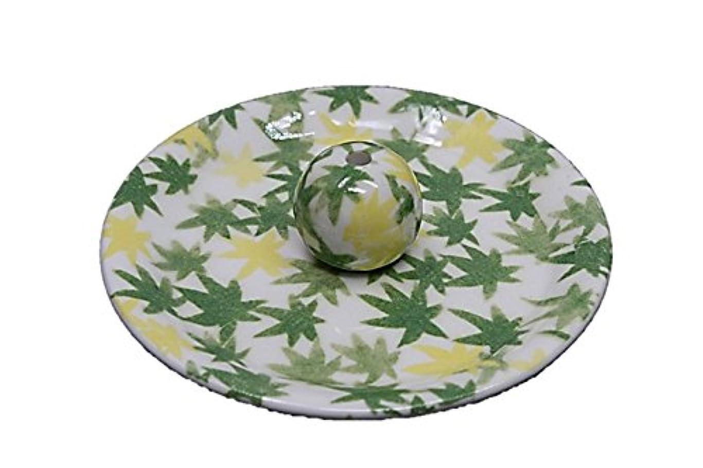 あいまいさマットレスいちゃつく9-17 和路 緑 9cm香皿 お香立て お香たて 陶器 日本製 製造?直売品