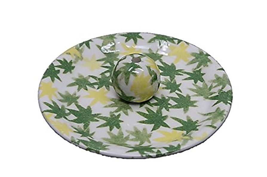 ランチョン軸ライン9-17 和路 緑 9cm香皿 お香立て お香たて 陶器 日本製 製造?直売品