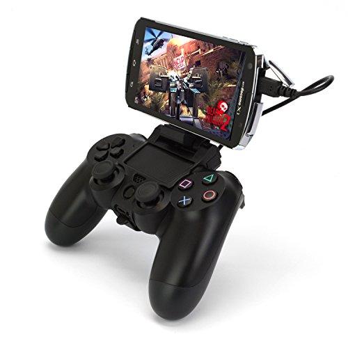 「コントローラクリップ for Smartphone(PS4ver.)」PS4コントローラーDualshock4をスマホで使うアタッチメント