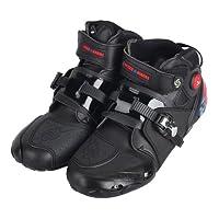 PRO Sportbike レーシングブーツ/バイク用ブーツ/ショートブーツ 強化防衛性 ライダーブーツ SIZE40/約25cm ブラック 並行輸入品