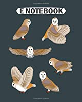 E Notebook: barn owls  College Ruled - 50 sheets, 100 pages - 8 x 10 inches