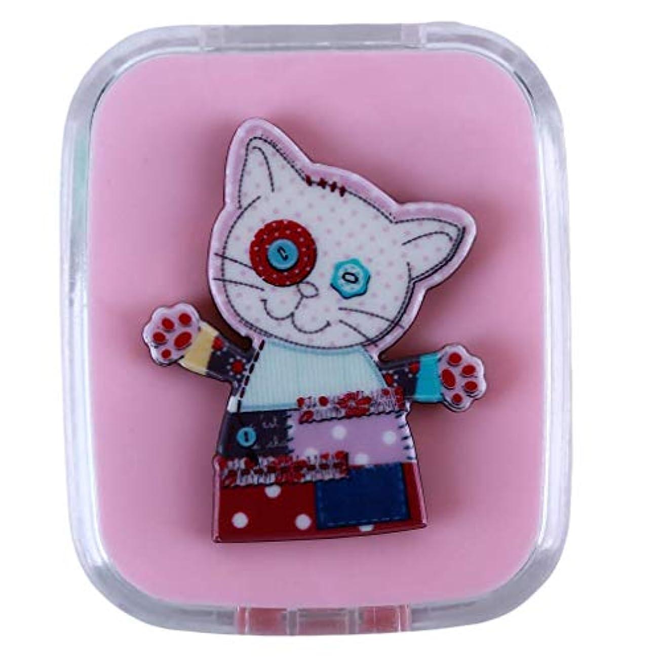不当怒って壁1st market プレミアム コンタクトレンズケース コンタクトレンズボックス レンズケースセット コンタクト ケアパレット スティック ミラーケース 持ち運びに便利 携帯 動物 猫 可愛い 便利