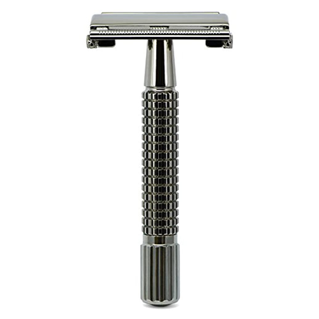 コミットチャンピオン前投薬G&F - Gentle Shaver Safety razor, Butterfly, black chrome, 8 cm