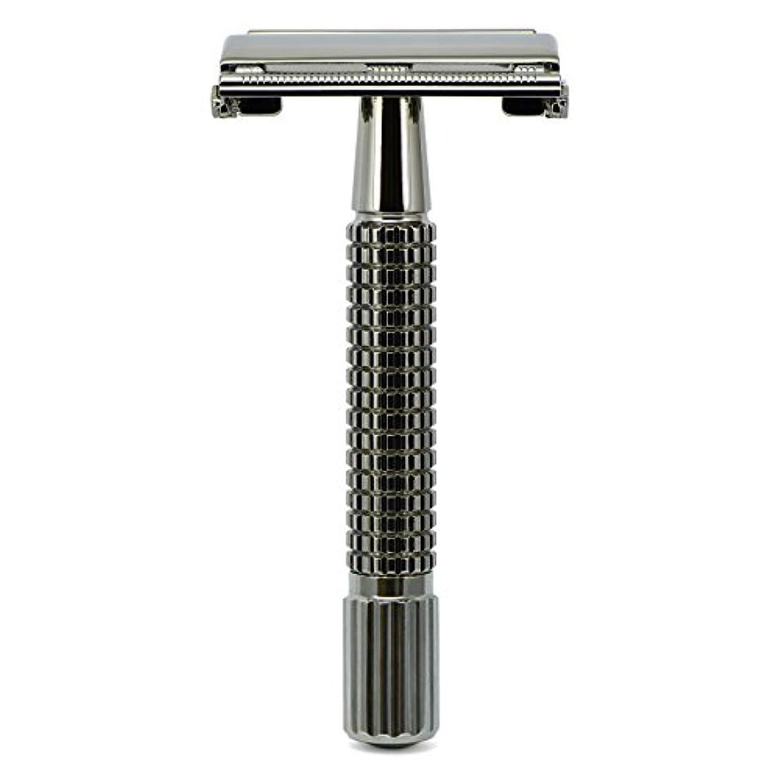 傑出した粗いええG&F - Gentle Shaver Safety razor, Butterfly, black chrome, 8 cm