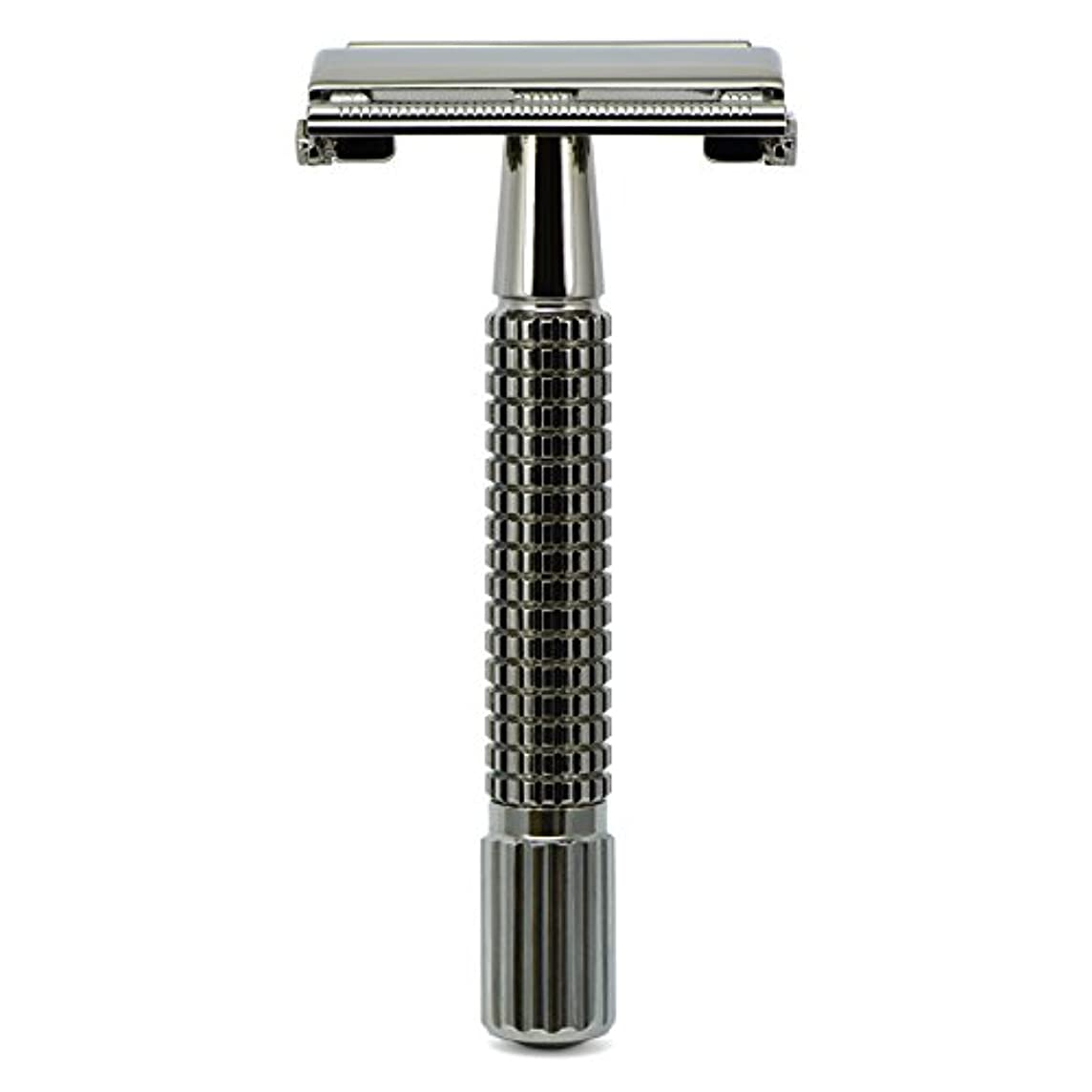 権限を与えるレモン複製するG&F - Gentle Shaver Safety razor, Butterfly, black chrome, 8 cm