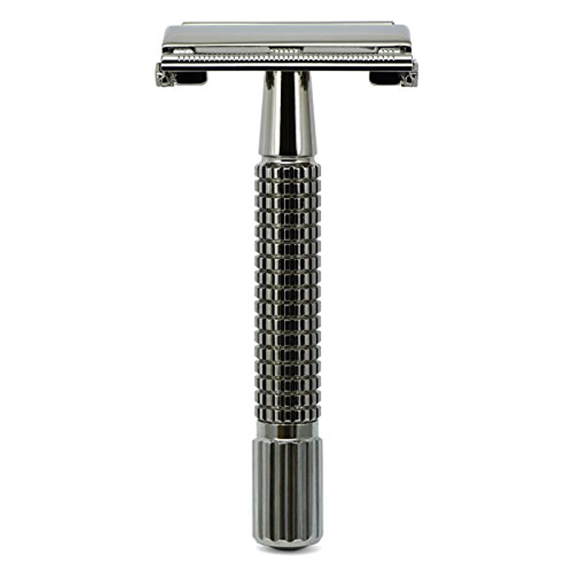子羊驚いたことにはねかけるG&F - Gentle Shaver Safety razor, Butterfly, black chrome, 8 cm