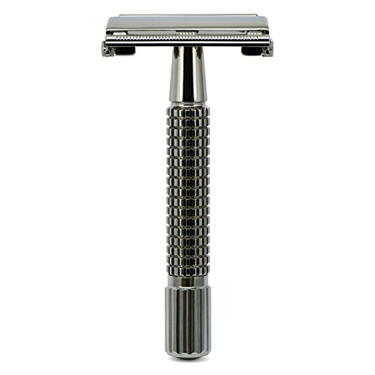 ボックス管理スラダムG&F - Gentle Shaver Safety razor, Butterfly, black chrome, 8 cm