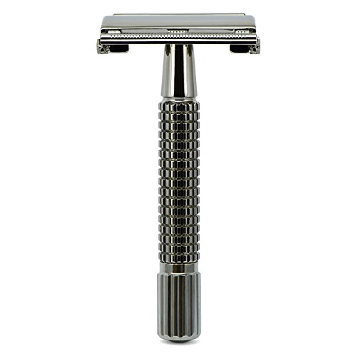 気難しい検証味G&F - Gentle Shaver Safety razor, Butterfly, black chrome, 8 cm